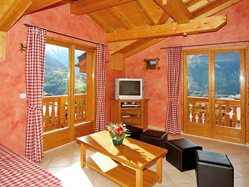 Holiday in mountain resort Chalet Paradis de St Martin - Saint Martin de Belleville - Living room