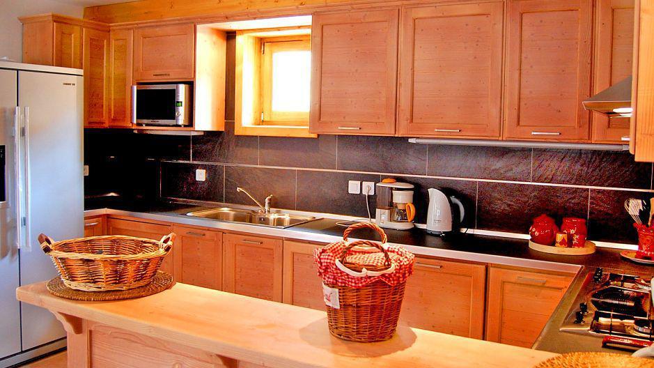 Vakantie in de bergen Chalet Paulo - Saint Martin de Belleville - Open keuken