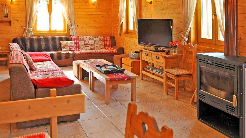 Vakantie in de bergen Chalet Paulo - Saint Martin de Belleville - Woonkamer