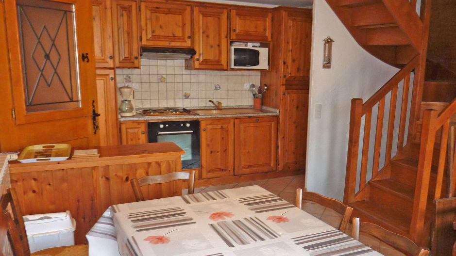 Vacances en montagne Chalet Pépé Martin - Saint Martin de Belleville - Cuisine ouverte