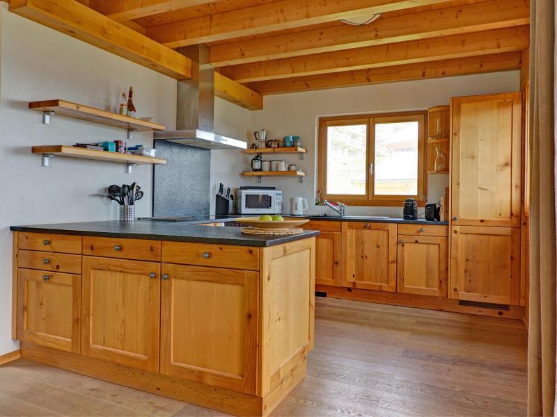 Vacances en montagne Chalet Perle des Collons - Thyon - Cuisine ouverte