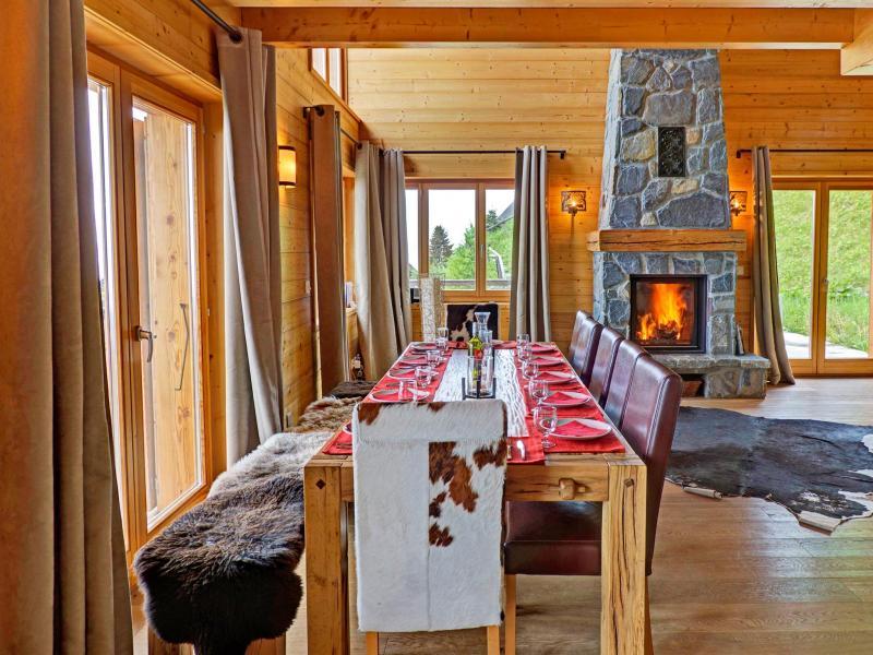 Vacances en montagne Chalet Perle des Collons - Thyon - Salle à manger
