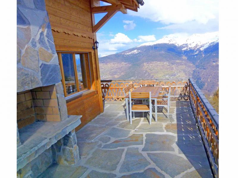 Vacances en montagne Chalet Perle des Collons - Thyon - Terrasse