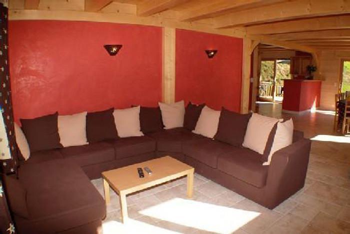 Vacaciones en montaña Chalet 6 piezas para 12 personas - Chalet Perle des Neiges - Le Grand Bornand - Sofá