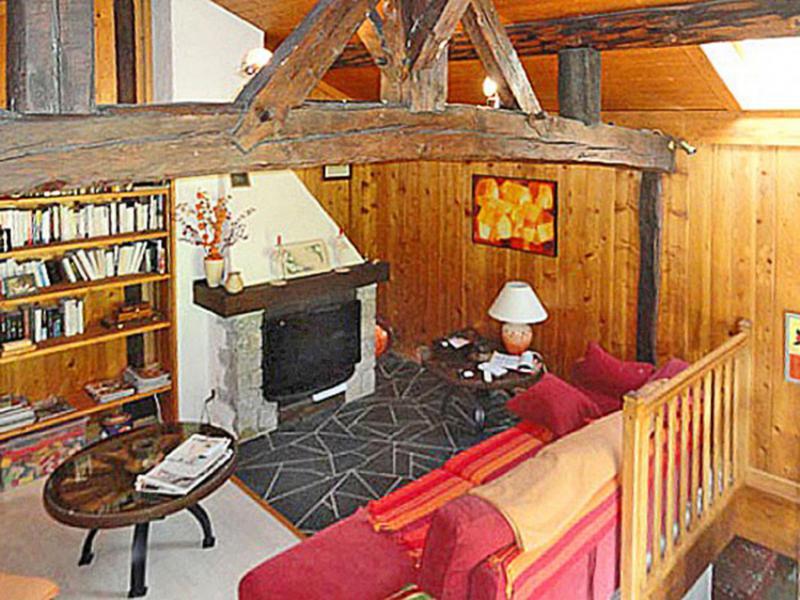 Vakantie in de bergen Chalet Peudral - La Plagne - Woonkamer