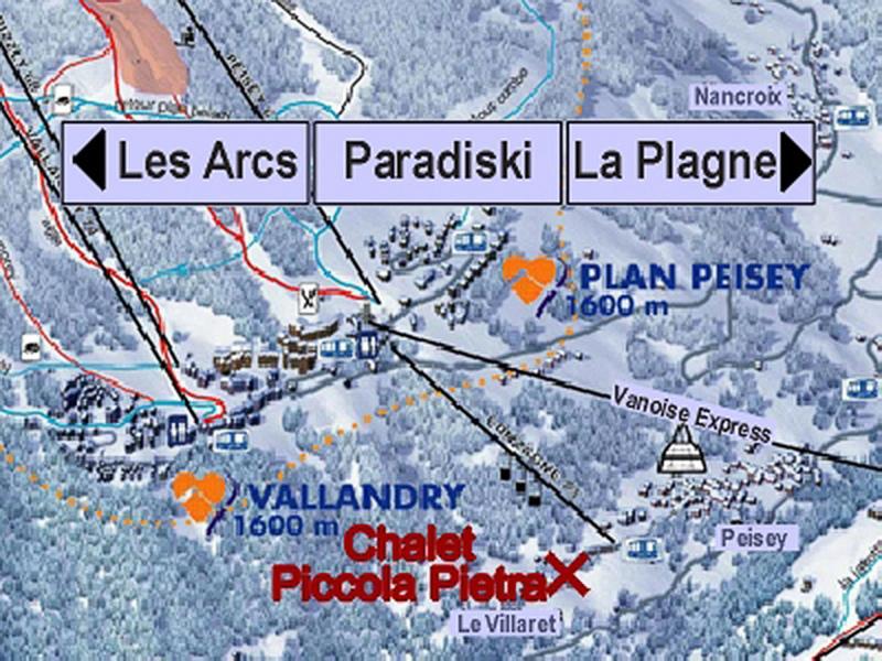 Vacances en montagne Chalet Piccola Pietra - Peisey-Vallandry - Plan