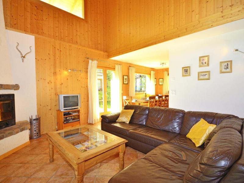 Holiday in mountain resort Chalet Pierina - La Tzoumaz - Living room