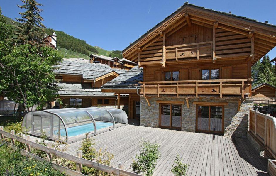 Location au ski Chalet Prestige Lodge - Les 2 Alpes - Extérieur été