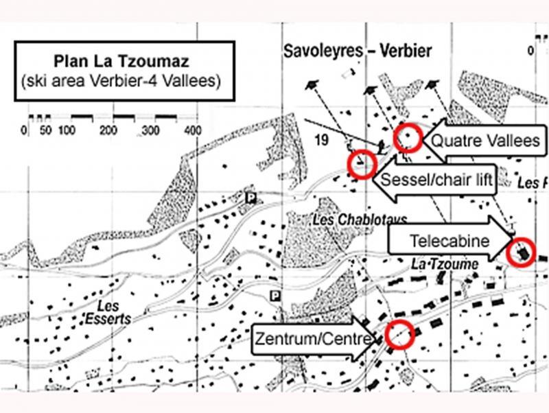 Vacanze in montagna Chalet Quatre Vallées - La Tzoumaz - Mappa