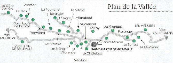 Vacances en montagne Chalet Romanée - Saint Martin de Belleville - Plan