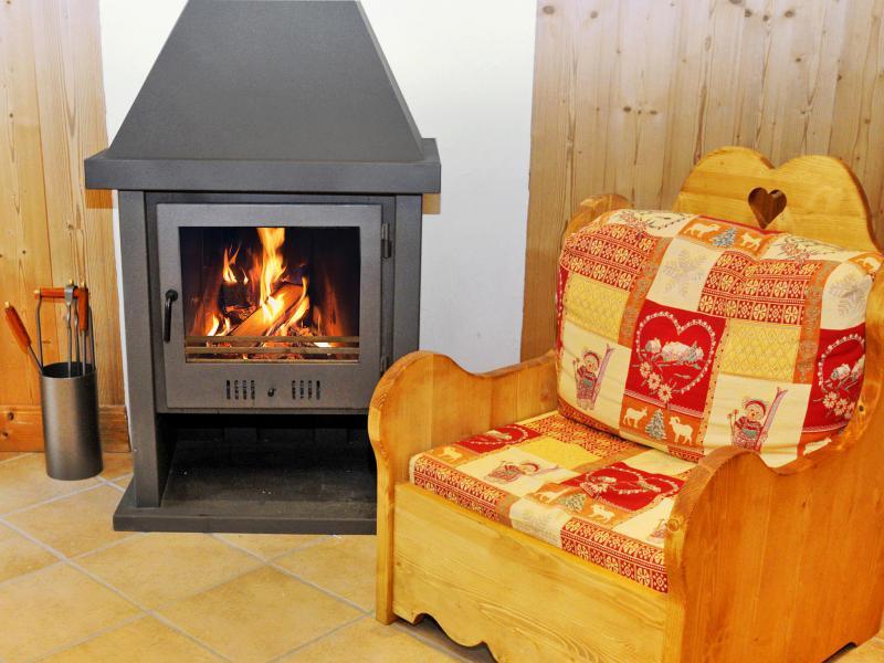 Vacances en montagne Chalet Rosa Villosa - Champagny-en-Vanoise - Cheminée