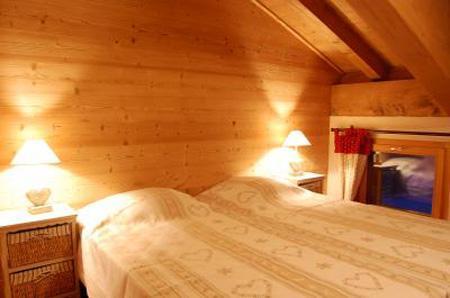 Vacaciones en montaña Chalet Saint Marc - Saint Martin de Belleville - Habitación abuhardillada