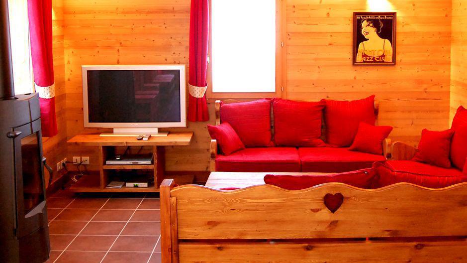Urlaub in den Bergen Chalet Saint Marc - Saint Martin de Belleville - Wohnzimmer