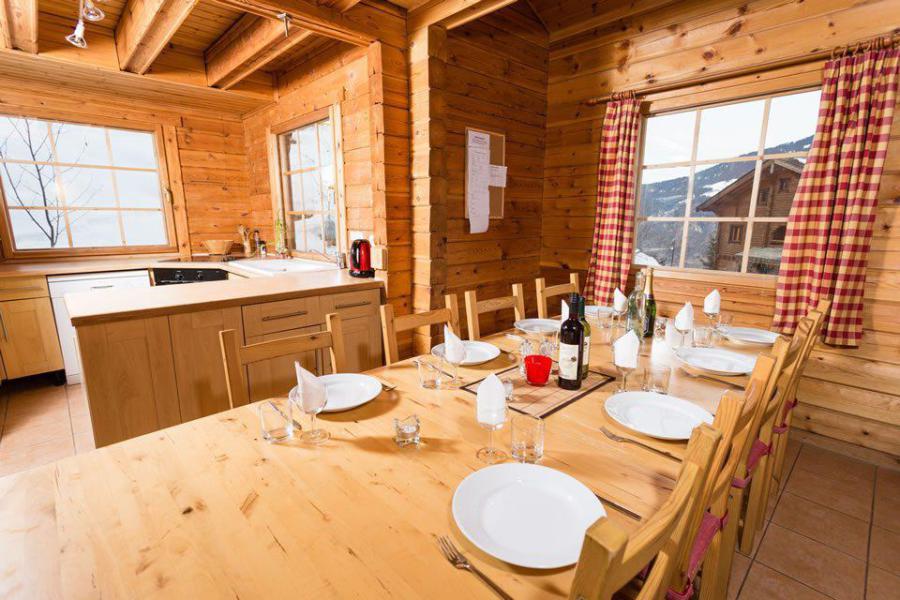 Wakacje w górach Domek górski pośredni 8 pokojowy dla 13 osób - Chalet Simone - La Tania - Jadalnia