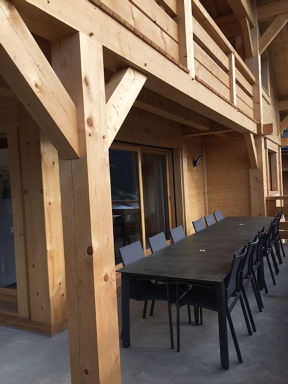 Vacaciones en montaña Chalet triplex 6 piezas para 12 personas - Chalet Soleya - Le Grand Bornand - Verano