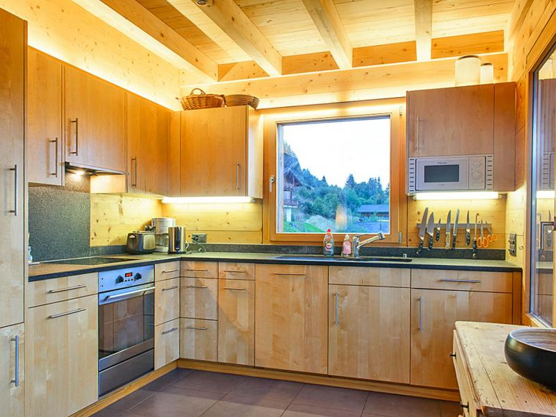 Holiday in mountain resort Chalet Sur Piste - Thyon - Kitchen
