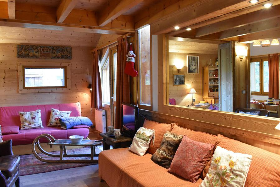 Holiday in mountain resort 3 room duplex chalet 6-8 people (tarnad) - Chalet Tara - Méribel - Pull-out sofa
