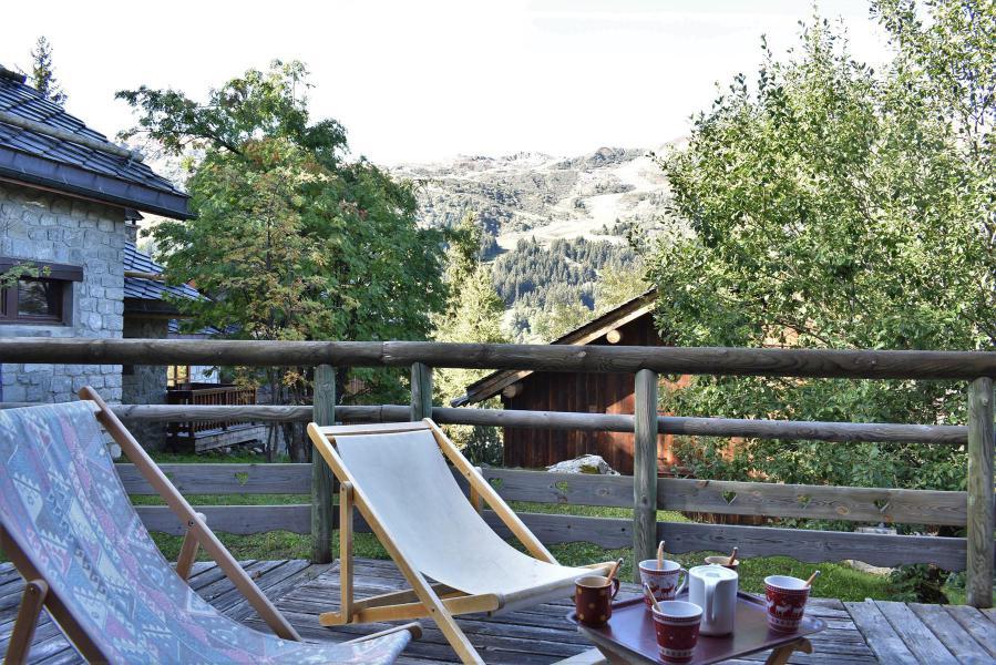 Holiday in mountain resort 3 room duplex chalet 6-8 people (tarnad) - Chalet Tara - Méribel - Terrace