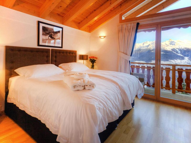 Holiday in mountain resort Chalet Teychenne - Thyon - Bedroom