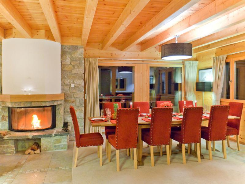 Vacances en montagne Chalet Teychenne - Thyon - Coin repas