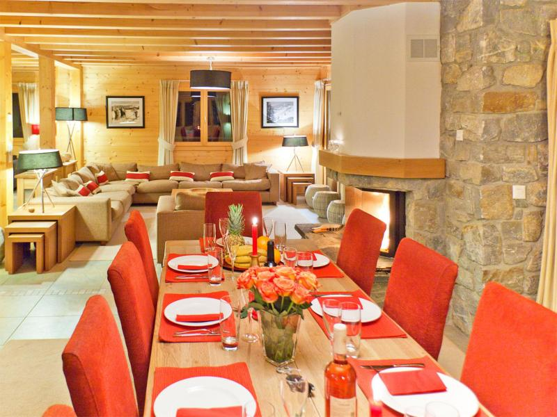 Holiday in mountain resort Chalet Teychenne - Thyon - Dining area
