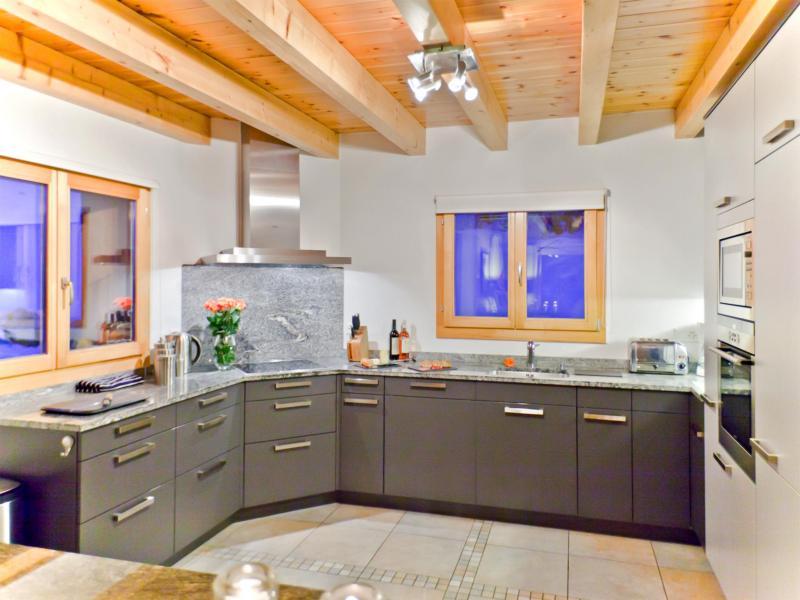 Holiday in mountain resort Chalet Teychenne - Thyon - Kitchen