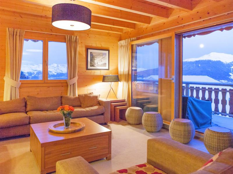 Holiday in mountain resort Chalet Teychenne - Thyon - Living area