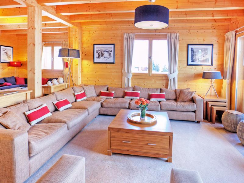 Holiday in mountain resort Chalet Teychenne - Thyon - Living room