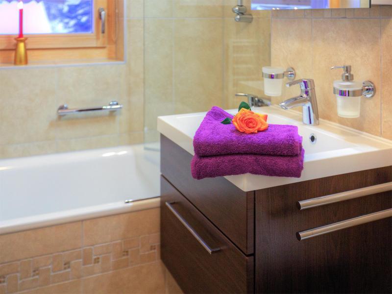 Vacances en montagne Chalet Teychenne - Thyon - Salle de bains