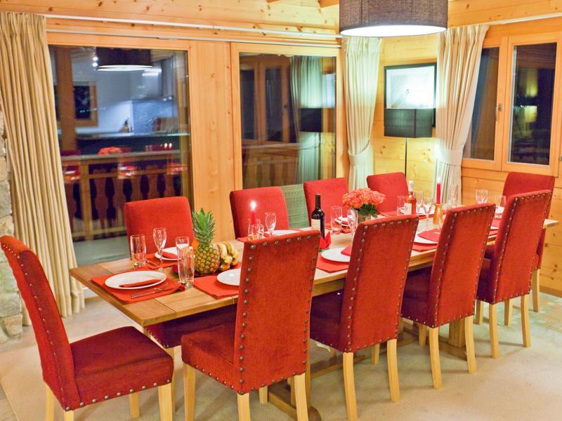 Vacances en montagne Chalet Teychenne - Thyon - Table