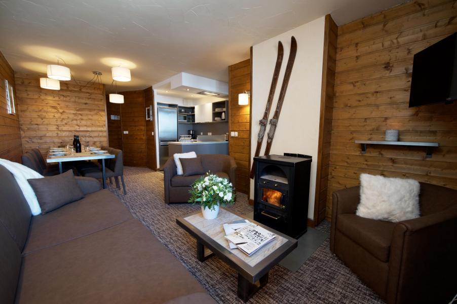 Urlaub in den Bergen 5-Zimmer-Appartment für 8 Personen - Chalet Val 2400 - Val Thorens - Wohnzimmer