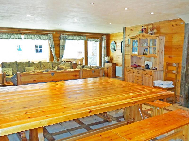 Holiday in mountain resort Chalet Vanoise - Champagny-en-Vanoise - Dining area