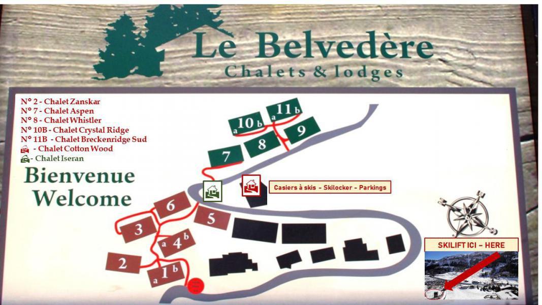 Wakacje w górach Chalet Whistler - Tignes - Plan