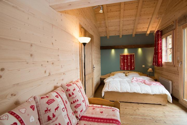 Holiday in mountain resort 4 room duplex chalet 8 people (Eco) - Chalets Domaine les Adrets - Gérardmer - Living room