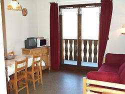 Vacaciones en montaña Apartamento cabina 2 piezas para 6 personas (EP75A) - Chalets les Epervières - La Norma - Estancia