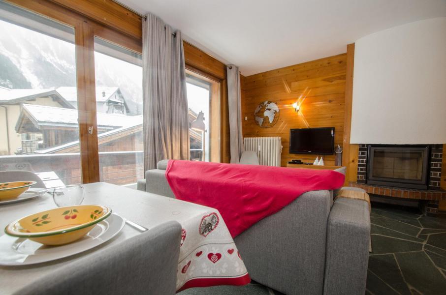 Wakacje w górach Apartament 2 pokojowy 4 osób (FEDORA) - Flegere et Golf - Chamonix - Pokój gościnny