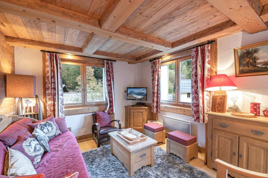 Urlaub in den Bergen 3-Zimmer-Appartment für 6 Personen - Hameau de la Blaitiere - Chamonix - Wohnzimmer