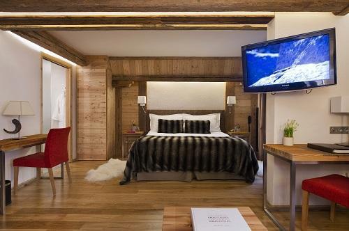 Holiday in mountain resort Junior Suite (2 people) - Hôtel Au Coeur du Village - La Clusaz - Bedroom