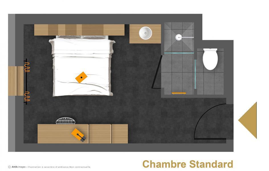 Vacances en montagne Chambre 2 personnes (VERSANT NORD) - Hôtel Base Camp Lodge - Les Arcs - Plan