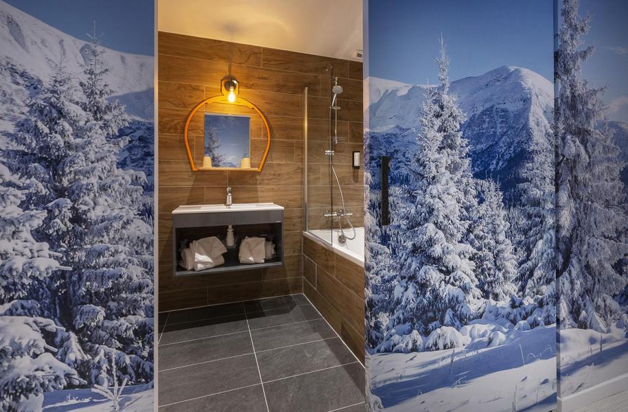 Wakacje w górach Pokój 1-1 osób (TENTE) - Hôtel Base Camp Lodge - Les Arcs - Łazienka