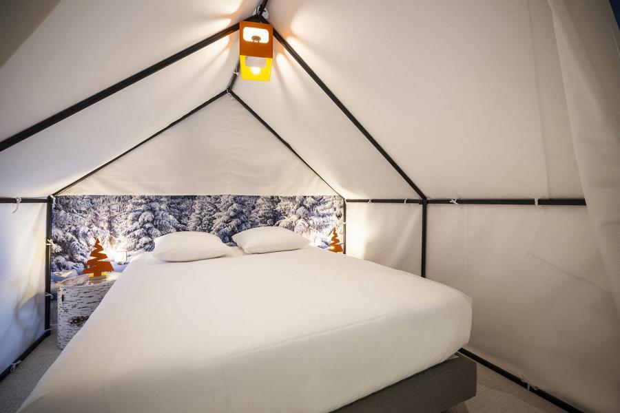Wakacje w górach Pokój 1-1 osób (TENTE) - Hôtel Base Camp Lodge - Les Arcs - Łóżkem małżeńskim