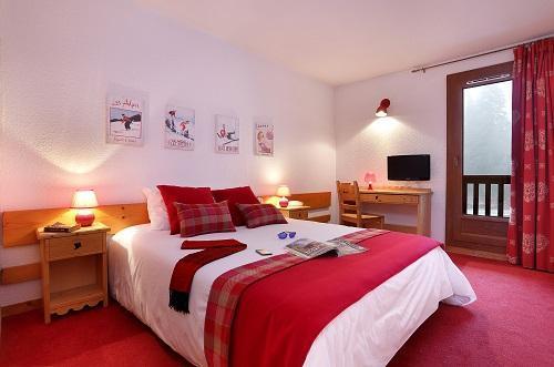 Vacances en montagne Chambre Confort (1 ou 2 personnes) - Hôtel du Bourg - Valmorel - Lit double
