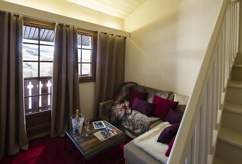 Vacances en montagne Chambre Duplex (tarif 2 personnes) - Hôtel du Bourg - Valmorel - Canapé
