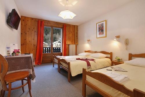 Urlaub in den Bergen Hôtel Eliova l'Eau Vive - Châtel - Schlafzimmer