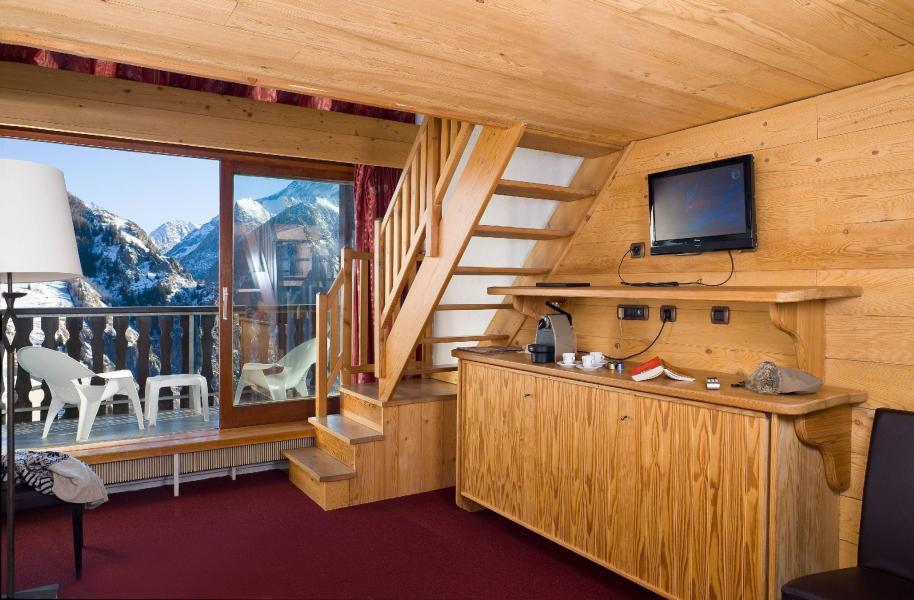 Urlaub in den Bergen Hôtel Ibiza - Les 2 Alpes - Kleines Wohnzimmer