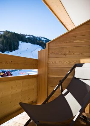 Vakantie in de bergen Hôtel le Marmotel - Pra Loup - Balkon