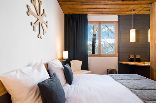 Urlaub in den Bergen Hôtel le Marmotel - Pra Loup - Schlafzimmer