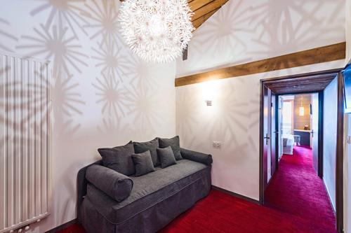 Urlaub in den Bergen Hôtel le Marmotel - Pra Loup - Sofa