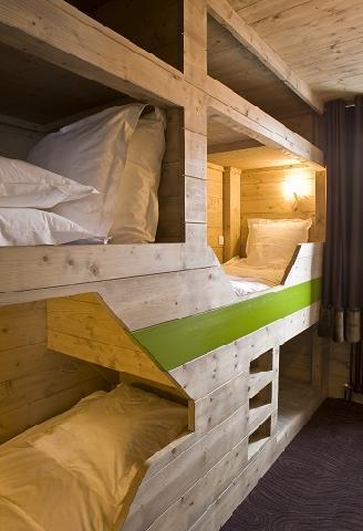 Vacances en montagne Hôtel Ormelune - Val d'Isère - Lits superposés