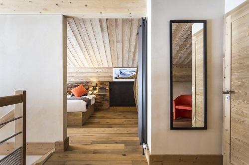 Vakantie in de bergen Hôtel Saint Charles Val Cenis - Val Cenis - Open slaapkamer